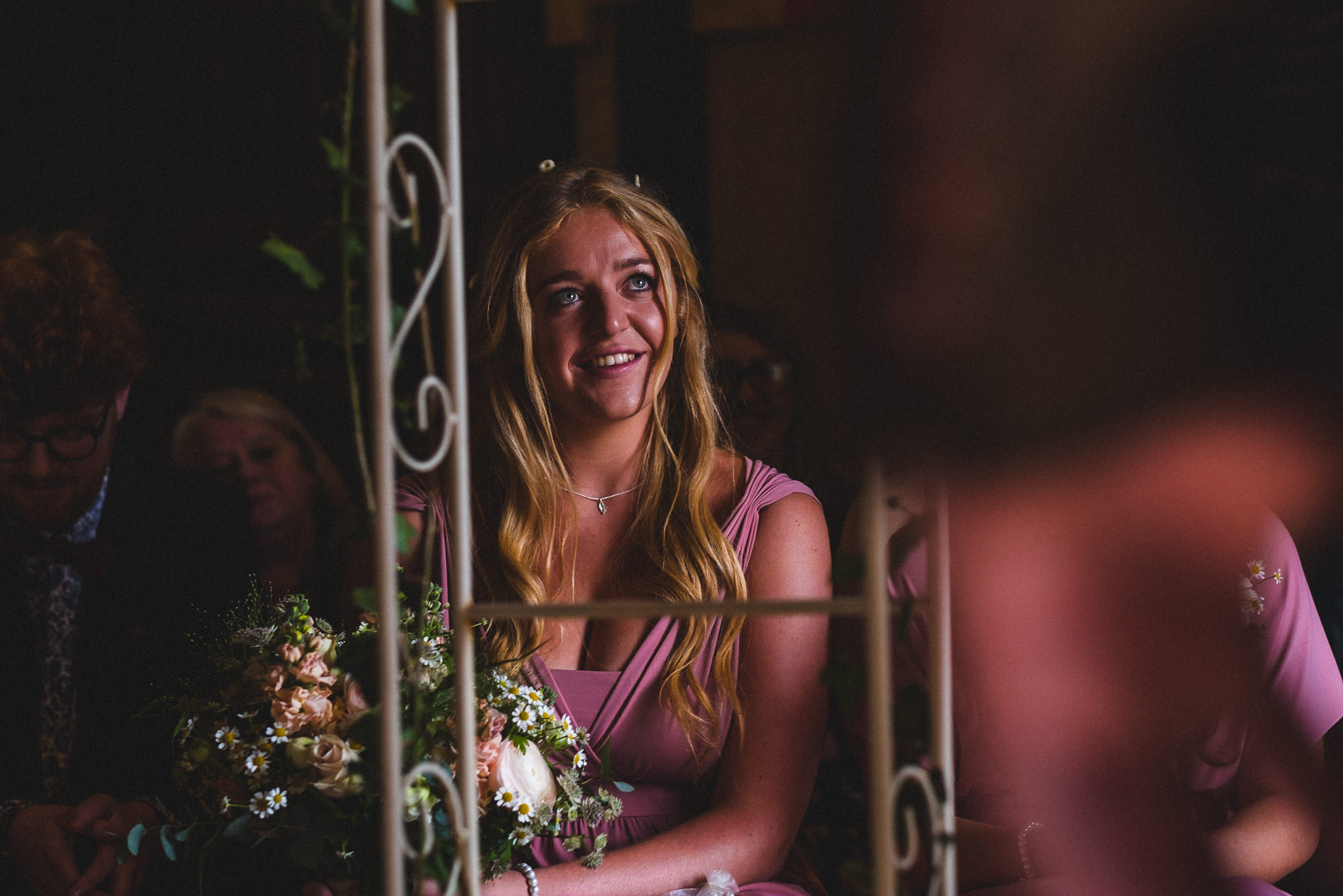 Couple getting married at Berts Barrow farm