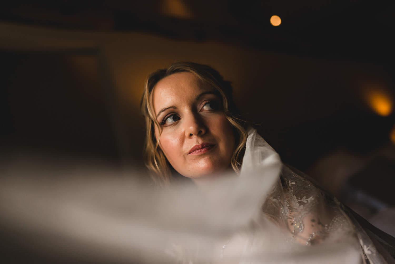 Bridal portrait at The Punch Bowl Inn, Crosthwaite, Lake District