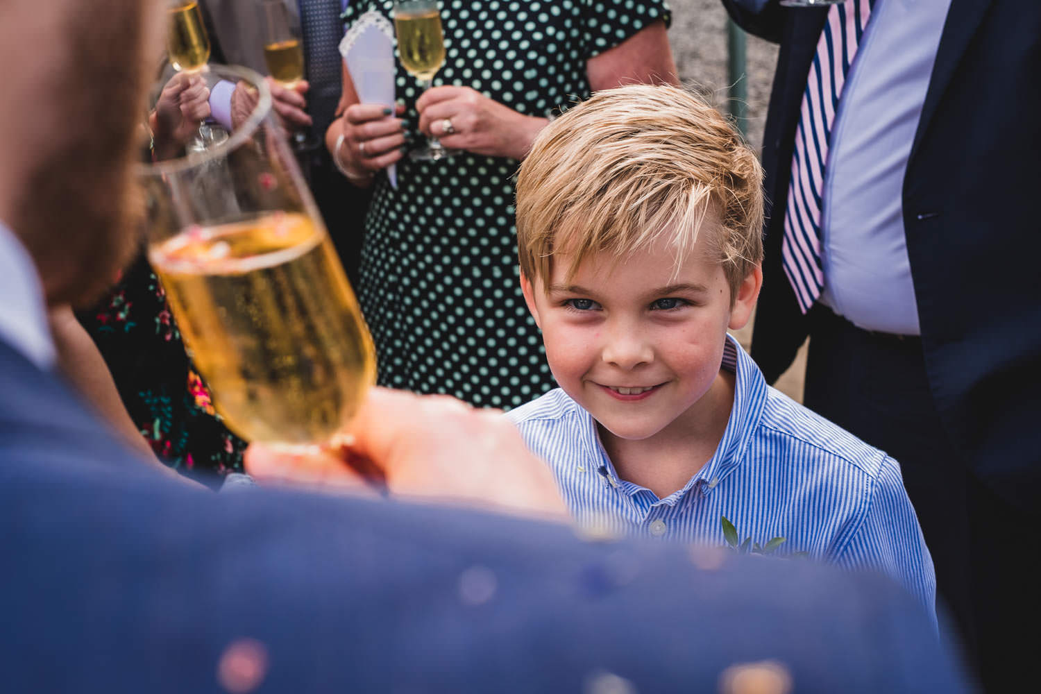 Confetti being thrown at wedding ceremony at The Punch Bowl Inn. Lake District