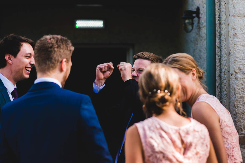 wedding guest cheering
