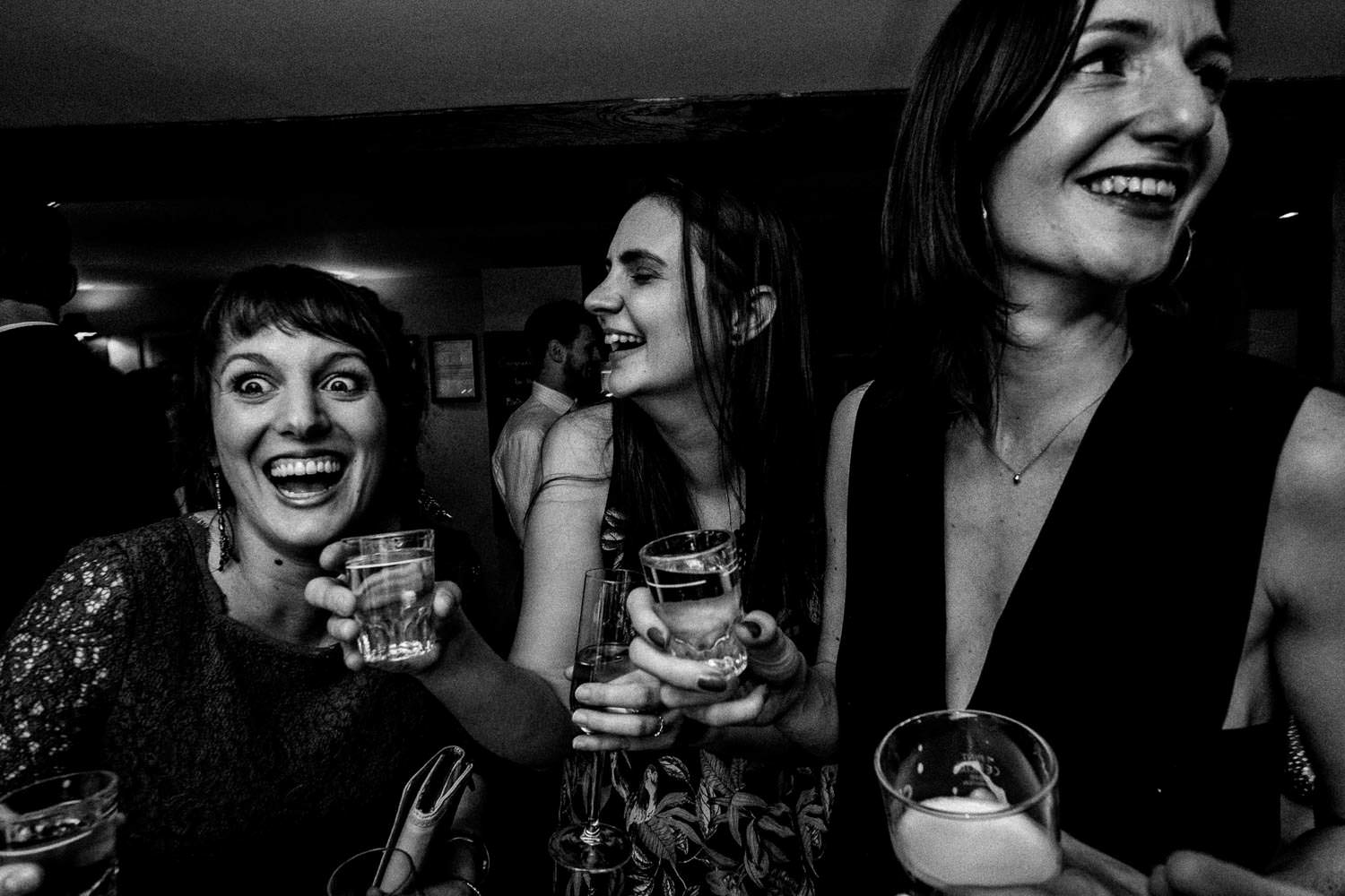 Candid party photography at The Punch Bowl Inn, Lake District