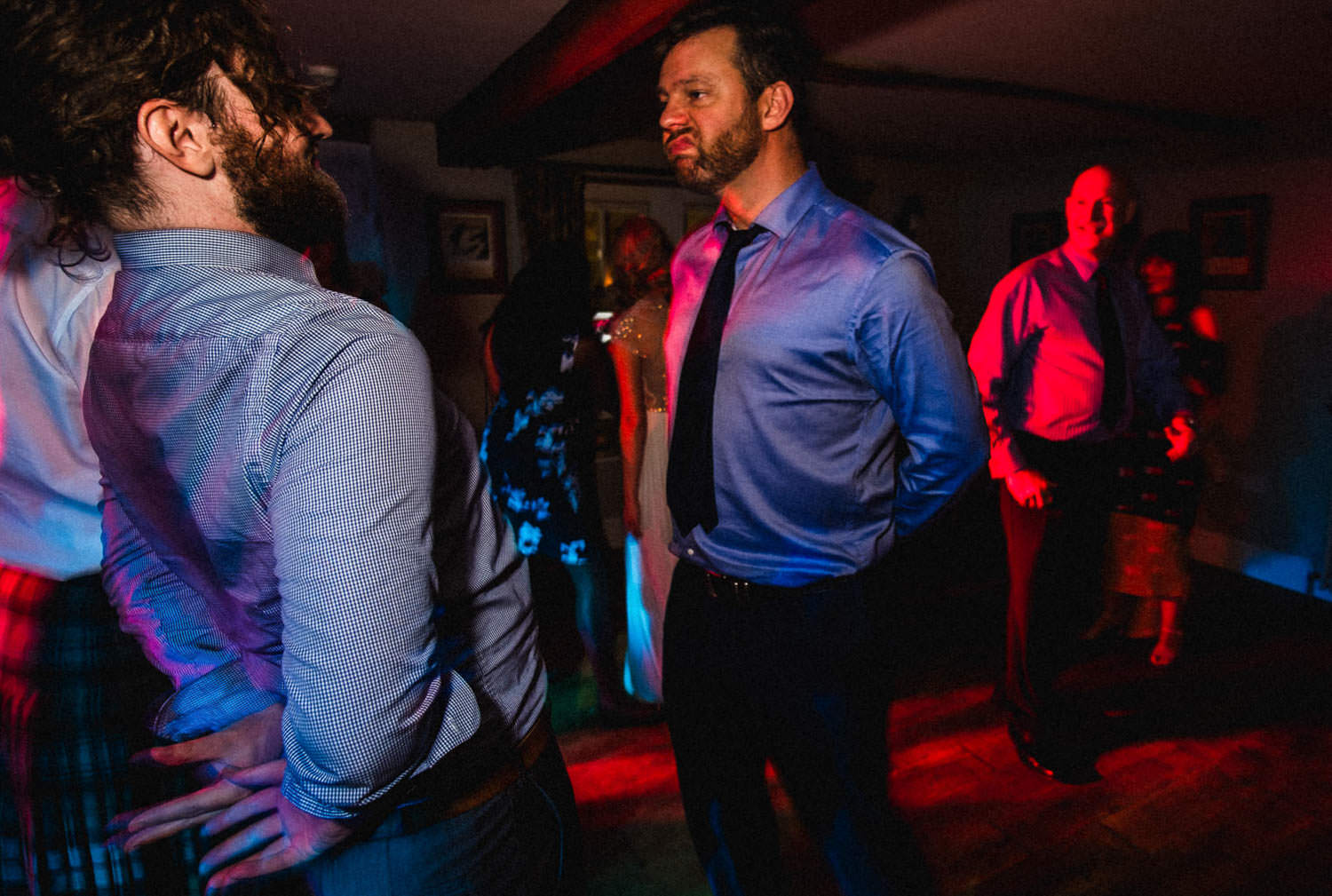 Documentary wedding disco photography in Lake District