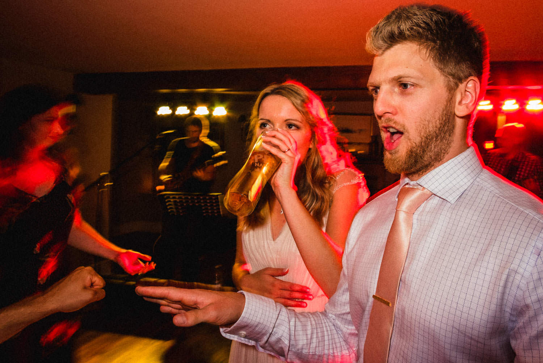 Crazy party at wedding