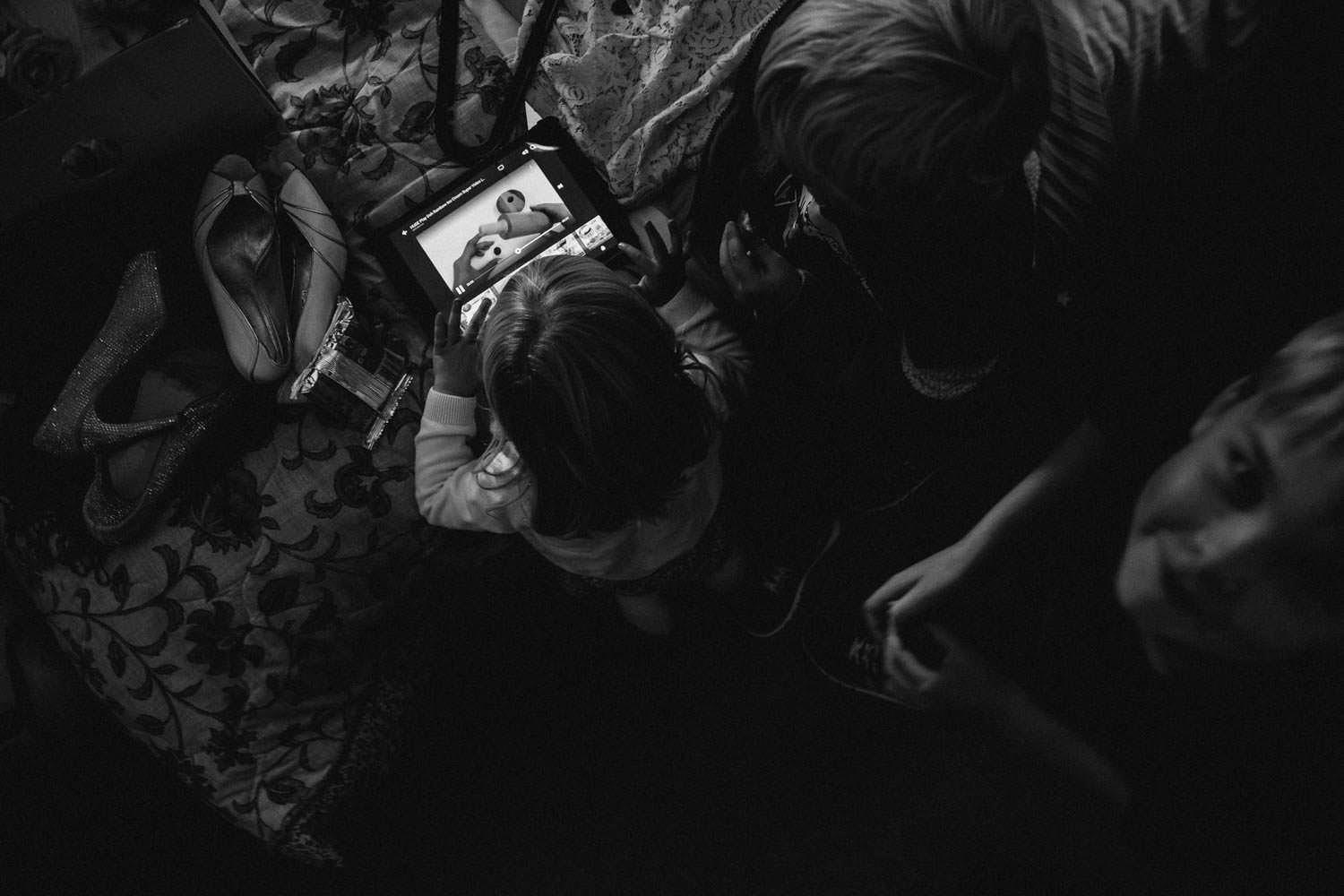 Children playing games before wedding ceremony